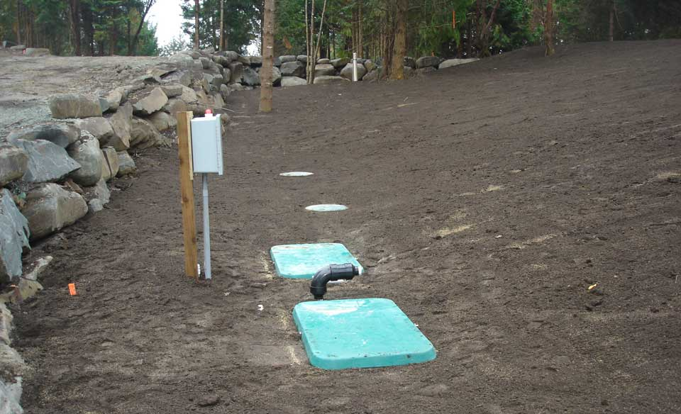 Septic tank and treatment plant surface access for maintenance