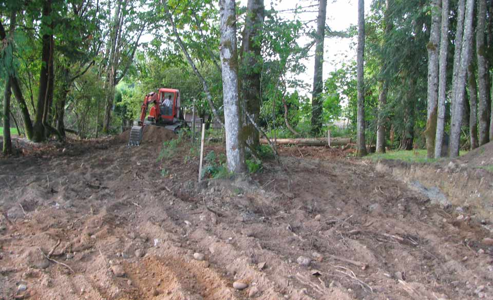 Scarifying surface prep for sand mound disposal area